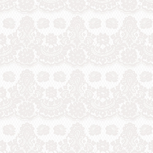 Floral Lace White Gray HTV