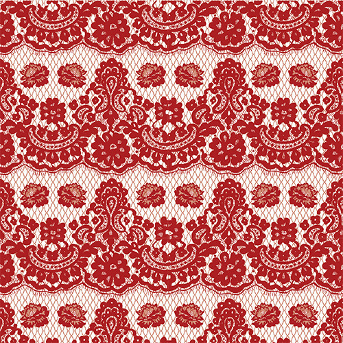 Floral Lace Red HTV