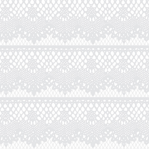 Lace Rows White Gray HTV