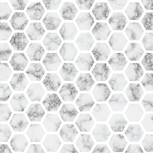 Silver Glitter Marble Honeycomb HTV
