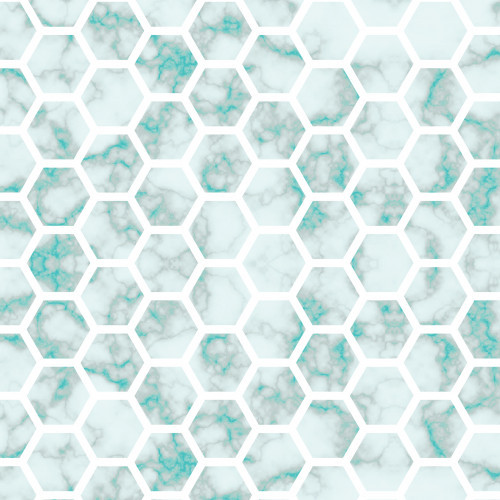 Teal Marble Honeycomb HTV