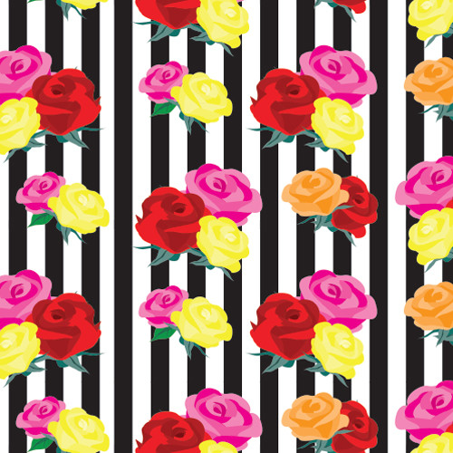 Stripes and Roses HTV