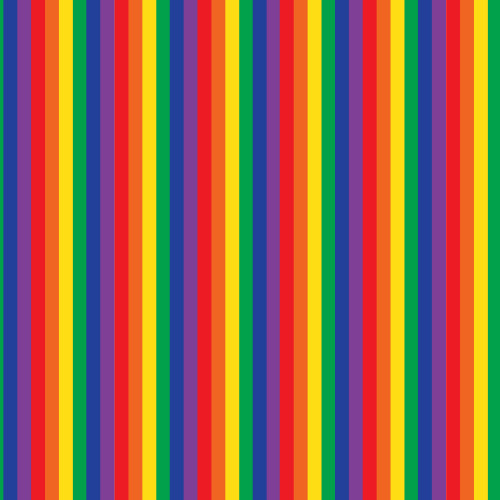 Stripes Rainbow Pride HTV