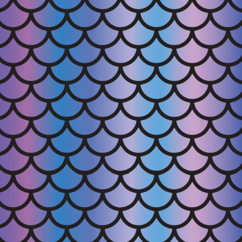 Cool Rainbow Fish Scales HTV