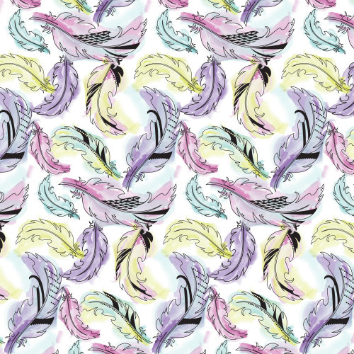 Watercolor Feathers HTV