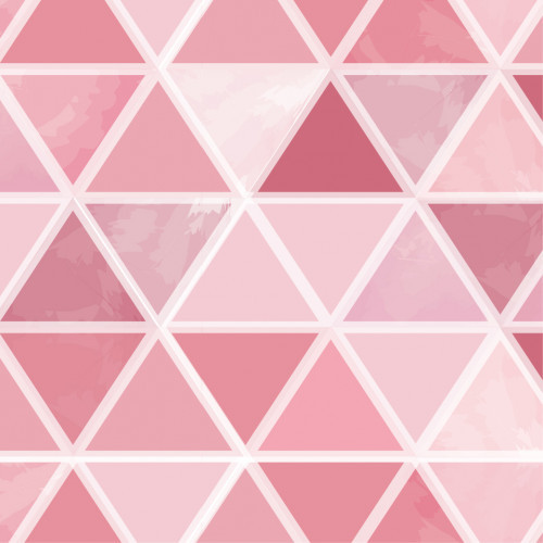 Watercolor Triangles Pink HTV