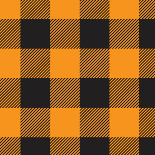 "Buffalo Plaid Orange 1"" HTV"