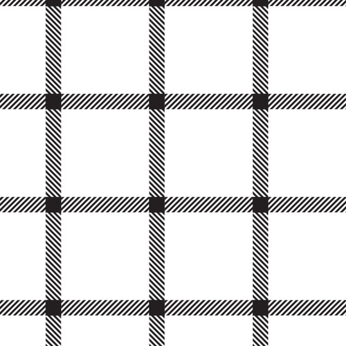Window Pane Plaid Black White PSV