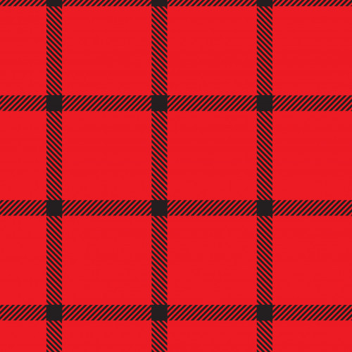 Window Pane Plaid Black Red PSV