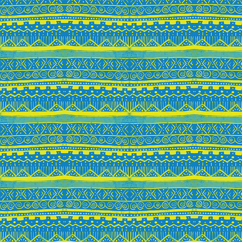 Blue Yellow Brush Aztec PSV