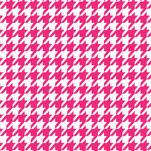 Houndstooth Hot Pink PSV