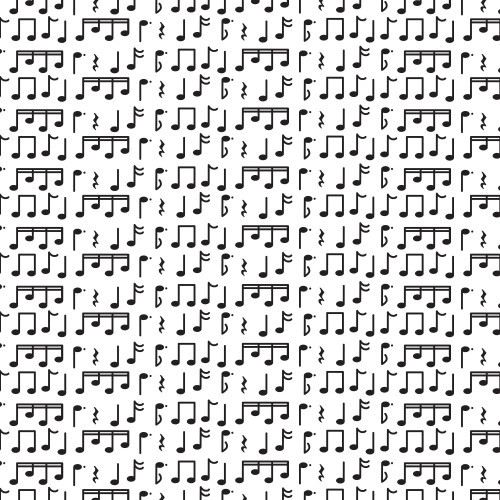 Music Notes Black PSV
