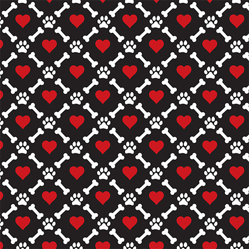 Dog Bone Heart Black PSV
