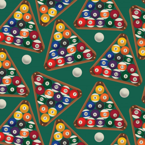 Scattered Racked Pool Ball