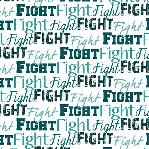Fight Text Teal