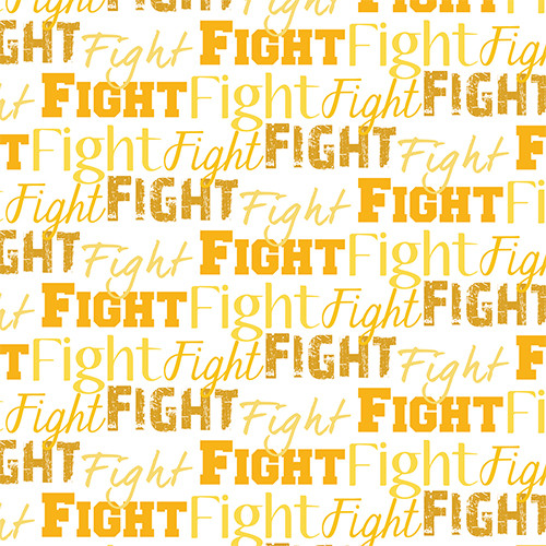 Fight Text Yellow