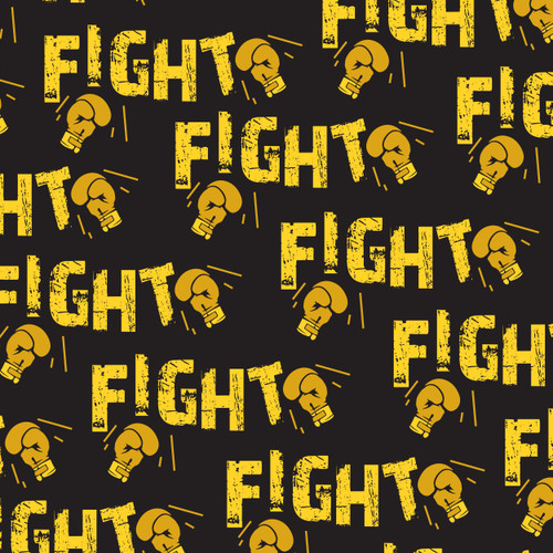 Fight Cancer Yellow Black