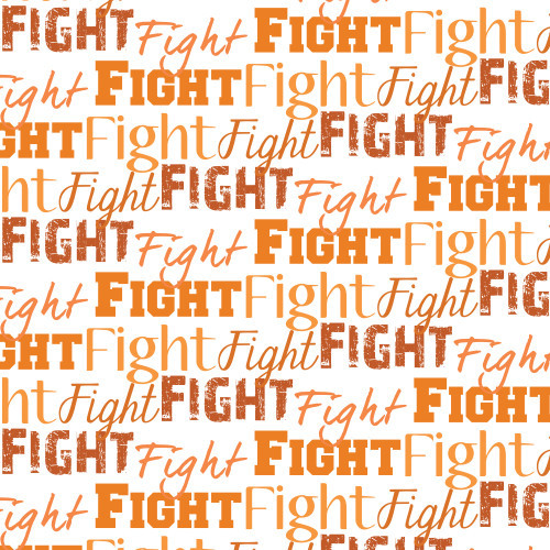 Fight Text Orange
