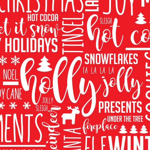 Holiday Text Red PSV