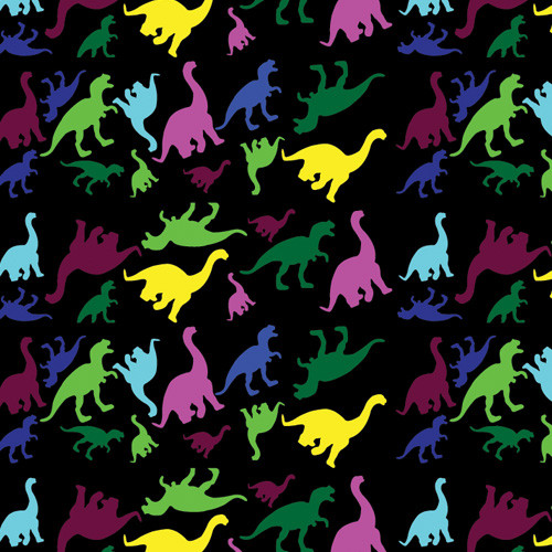 Dinosaur Shapes on Black PSV