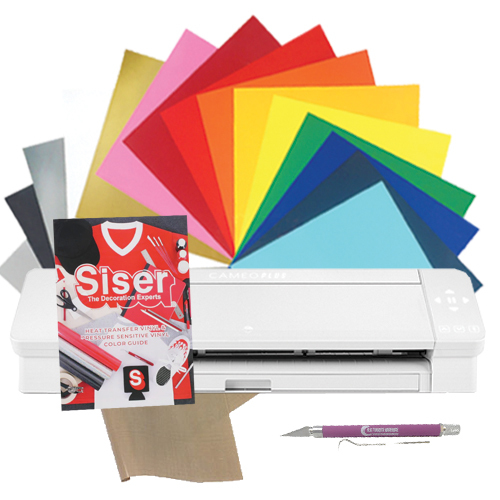 """Silhouette Cameo 4 Plus 15"""" EasyWeed with Siser Color Chart Bundle"""