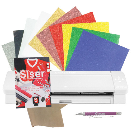 """Silhouette Cameo 4 Plus 15"""" Glitter with Siser Color Chart Bundle"""