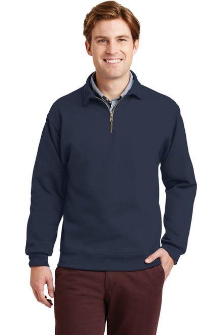 JERZEES® SUPER SWEATS® NuBlend® - 1/4-Zip Sweatshirt with Cadet Collar