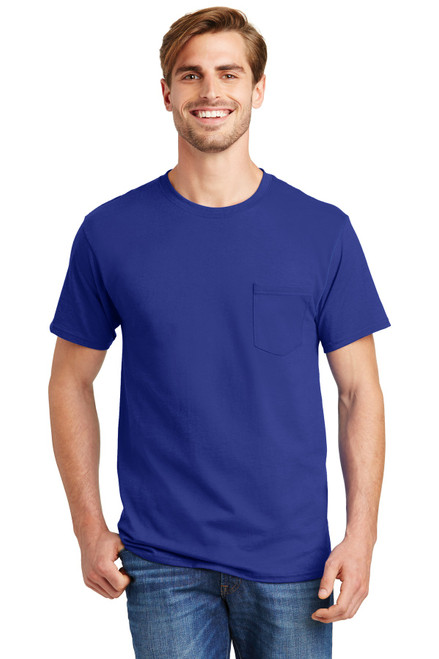 Hanes® - Tagless® 100% Cotton T-Shirt with Pocket