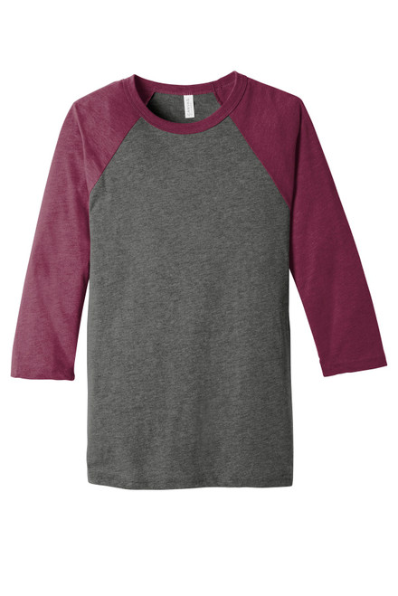 BELLA+CANVAS ® Unisex 3/4-Sleeve Baseball Tee
