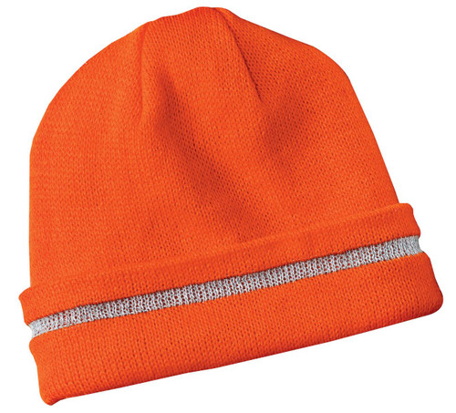 CornerStone® - Enhanced Visibility Beanie with Reflective Stripe