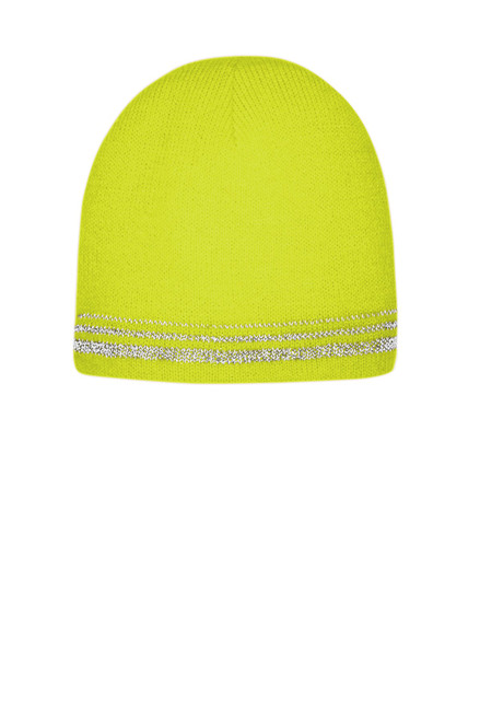 CornerStone ® Lined Enhanced Visibility with Reflective Stripes Beanie