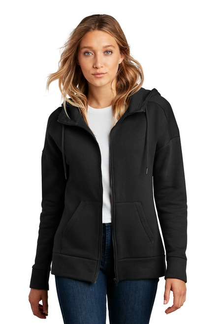 District ® Women's Perfect Weight ® Fleece Drop Shoulder Full-Zip Hoodie