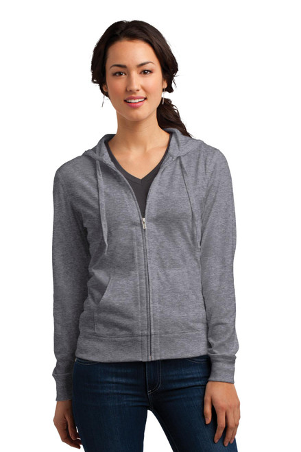 District® Women's Fitted Jersey Full-Zip Hoodie