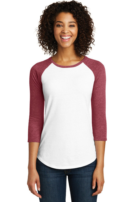 District® Women's Fitted Very Important Tee® 3/4-Sleeve Raglan