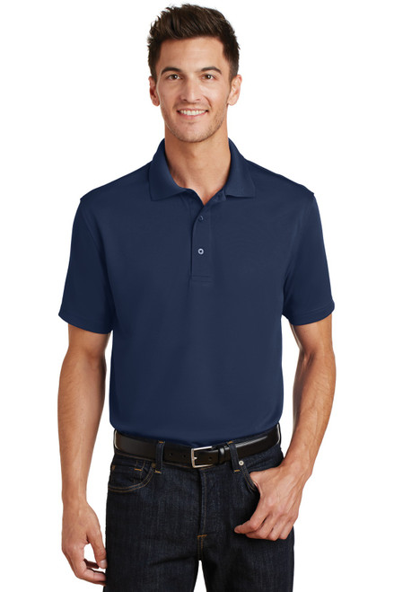 Port Authority®  Poly-Charcoal Blend Pique Polo