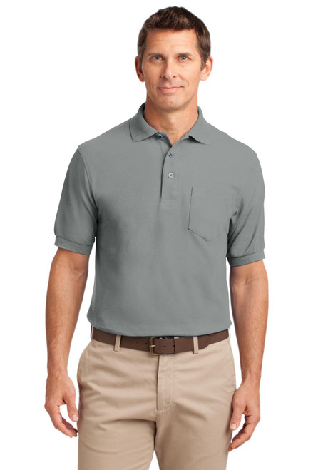 Port Authority®  Silk Touch Polo with Pocket