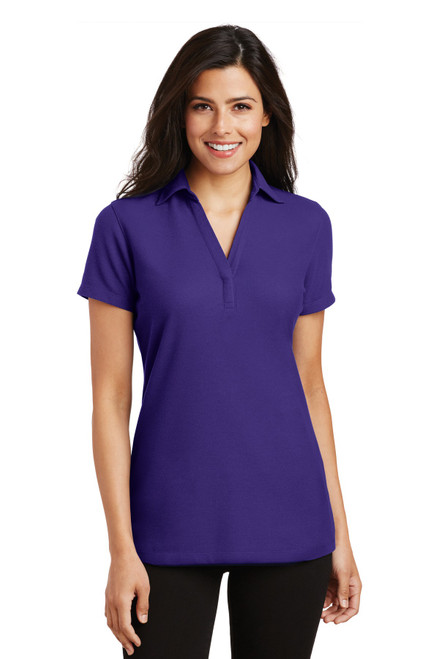 Port Authority®  Ladies Silk Touch Y-Neck Polo