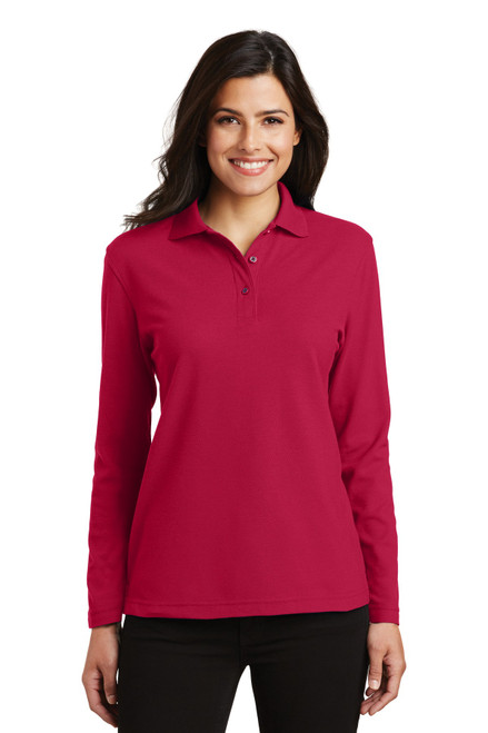 Port Authority®  Ladies  Silk Touch Long Sleeve Polo