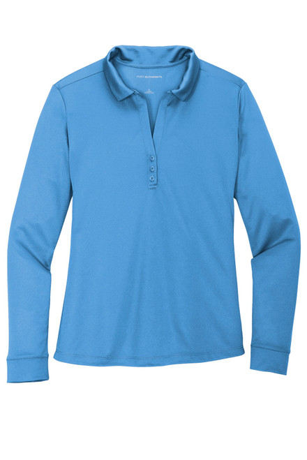 Port Authority ®  Ladies Silk Touch Performance Long Sleeve Polo