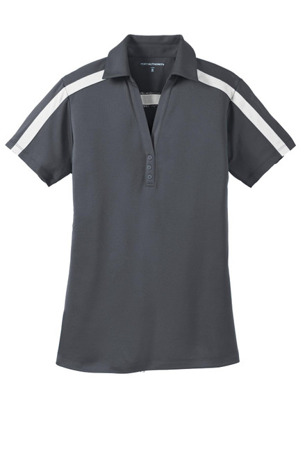 Port Authority®  Ladies Silk Touch Performance Colorblock Stripe Polo