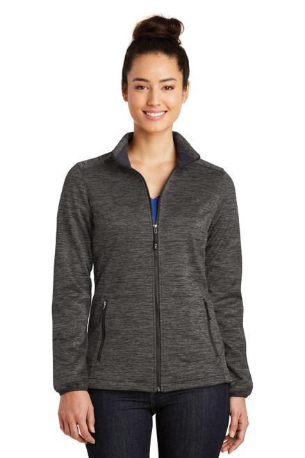 Sport-Tek® Ladies PosiCharge® Electric Heather Soft Shell Jacket