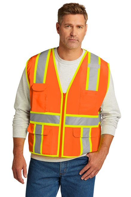 CornerStone ®  ANSI 107 Class 2 Surveyor Zippered Two-Tone Vest