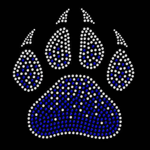 Faded Paw Royal Blue