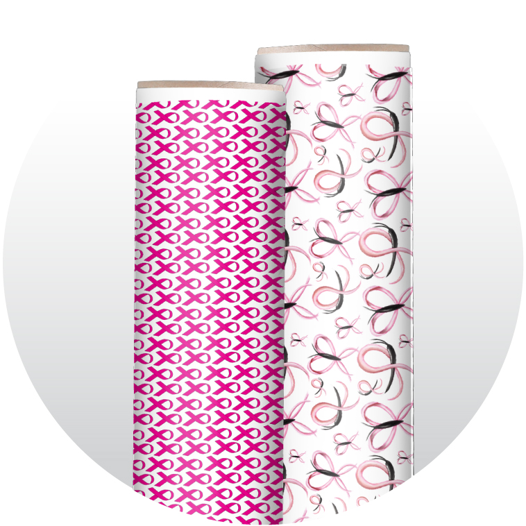 Breast Cancer Awareness Adhesive Patterned Vinyl