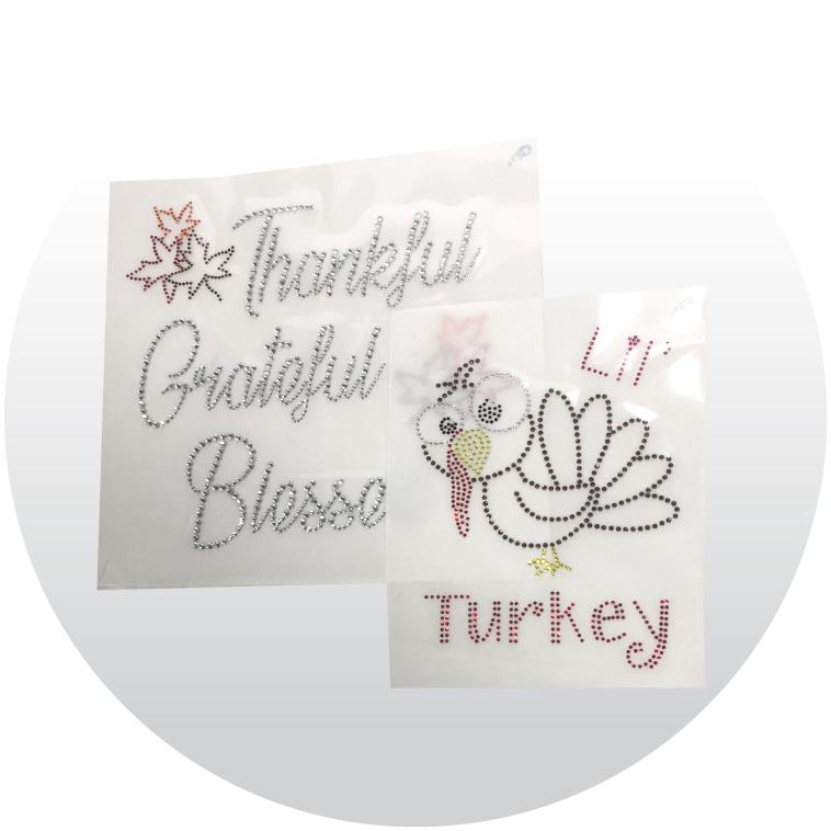 Thanksgiving Rhinestone Transfers