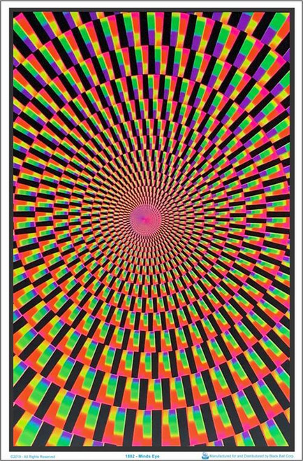 "Minds Eye blacklight Poster - 23"" X 35"""