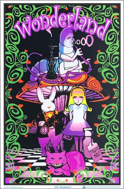 "Wonderland Blacklight Poster - 24"" X 36"""