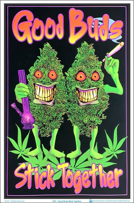 """Good Buds Stick Together Blacklight Poster - 23"""" X 35"""""""