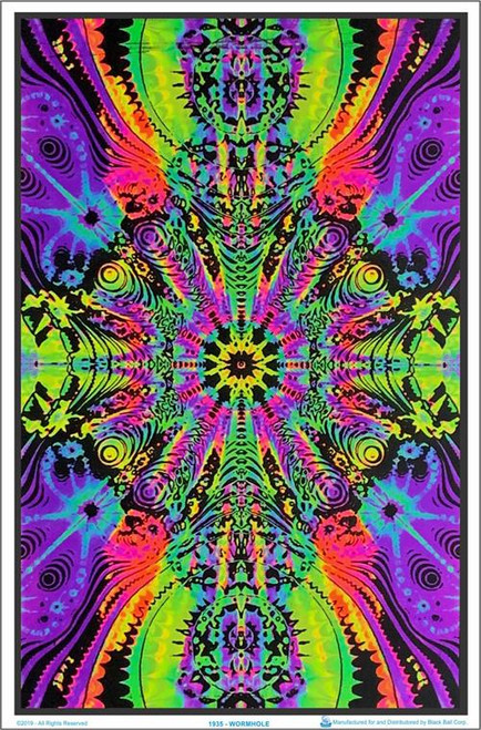 "Wormhole Blacklight Poster - 23"" X 35"""