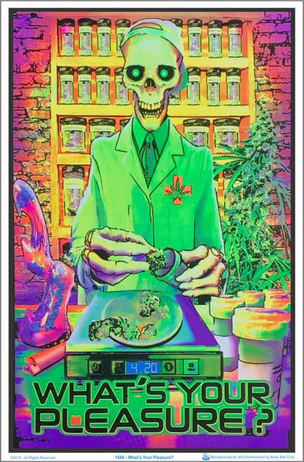 """Whats Your Pleasure Zombie blacklight Poster - 23"""" X 35"""""""